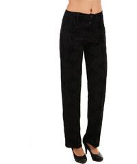 TopMode Elegantní dámské kalhoty se vzorem černá