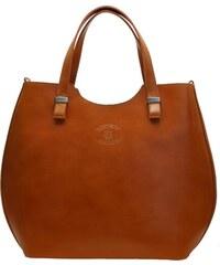 Kožená kabelka Vera Pelle 846 camel