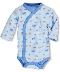 Schnizler Baby - Jungen Body Wickelbody Allover Langarm, Oeko Tex Standard 100