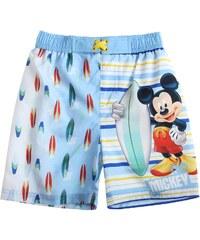 Disney Chlapecké koupací bermudy s Mickey Mouse - modrobílé
