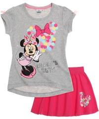 Disney Dívčí šedé tričko a sukně Minnie