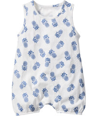 bpc bonprix collection Baby Overall Bio-Baumwolle, Gr. 56/62-92/98 ohne Ärmel in weiß von bonprix