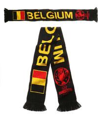 UEFA EURO 2016 Belgien Schal schwarz in Größe UNI für Unisex - Kinder aus 100% Polyacryl