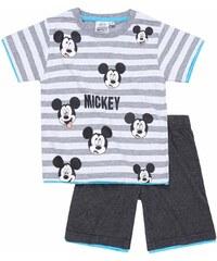Disney Chlapecký set trička a šortek Mickey Mouse - šedý