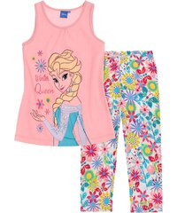 Disney Dívčí růžové tílko s legínami Frozen
