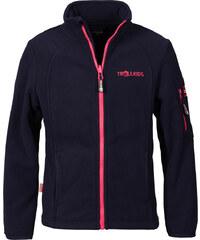 Trollkids Dětská fleecová bunda Arendal - modro-růžová