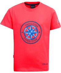 Trollkids Dětské rychle-schnoucí tričko Windrose s UV 30+ - červené