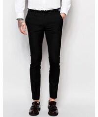 ASOS - Pantalon de costume super skinny - Noir - Noir