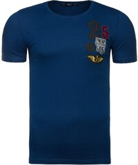 Jedinečné tmavě modré pánské tričko s potiskem ATHLETIC 9019