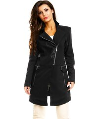 Originální dámský kabát Chic et Jeune - černý