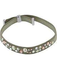 Miss Miss Bracelet avec cristaux de Swarovski® et finition en cuir - vert