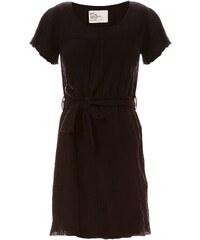 Léon & Harper Ressie - Kleid mit fließendem Schnitt - schwarz