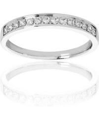 Promesse Aliance en or ornée de diamants - argent