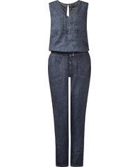Street One Oilwashed-Jumpsuit Lindsay - blau, Damen