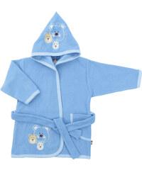 2be3 Dětský župan s medvídky - modrý