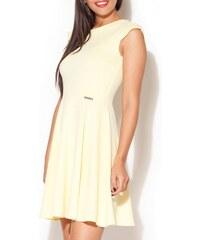 Katrus Kleid mit kurzem Schnitt - gelb