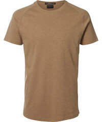 Selected SHXNew Curve O-Neck T-Shirt tigers eye