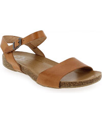 Sandales et nu-pieds Femme Porronet en Cuir Camel