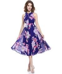 Ever Pretty luxusní letní šaty fialové s květy 5452 d031e9bbd9