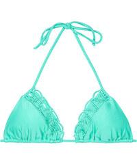 Luli Fama Haut De Bikini Triangle Bleu Avec Macramé - Soutien Pineapple Aquamarine