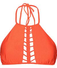 Luli Fama Haut De Maillot Crop Top Orange à Lanières - Soutien Kiss Braided