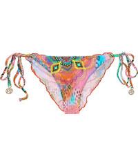 Luli Fama Bas De Bikini Scrunch Imprimé Coloré - Calcinha Boho Chic