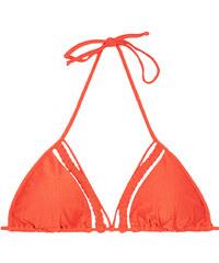 Luli Fama Haut De Bikini Triangle Orange à Lanières Tressées - Soutien Kiss Caliente