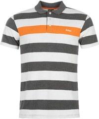 Polokošile pánská Lee Cooper Stripe Char/Wht/Orange