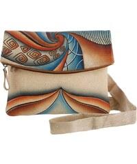Art & Craft by Greenland Umhängetasche aus handbemaltem Leder