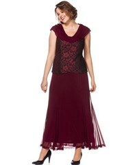 Damen Langes Style Spitzenkleid SHEEGO STYLE rot 21,22,23,24,25,88,92,96,100,104