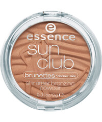 Essence Nr. 20 Brunettes Sun Club Shimmer Bronzing Powder Puder 9 g