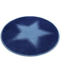 WECON HOME Kinder-Teppich rund Wecon Home Walk of Fame Stern Motiv blau 10 (Ø 150 cm),9 (Ø 100 cm)