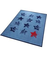 WECON HOME Teppich Wecon Home Red Star mit Sternen blau 2 (B/L: 80x150 cm),3 (B/L: 120x170 cm),31 (B/L: 133x200 cm),4 (B/L: 160x225 cm),6 (B/L: 200x290 cm)
