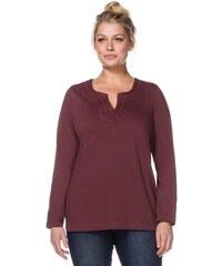 Damen Casual Langarmshirt mit Stickerei SHEEGO CASUAL rot 40/42,44/46,48/50,52/54,56/58