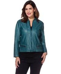 Damen Style Lederimitat-Jacke SHEEGO STYLE grün 40,42,44,46,48,50,52,54,56,58