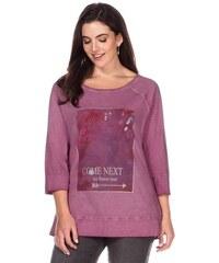 Damen Casual 3/4-Arm-Shirt mit Frontdruck SHEEGO CASUAL rosa 40/42,44/46,48/50,52/54,56/58