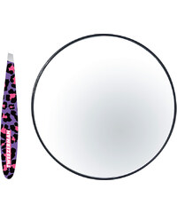 Tweezerman Fashion Leopard Mini Slant Pinzette und 10-fach vergrößerter Spiegel 1 Stück