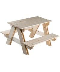 Teddies Souprava stolek + lavice dřevo