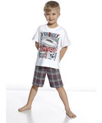 """Chlapecké pyžamo Cornette """"Stadium"""" YOUNG, KIDS, bílá - šedá"""