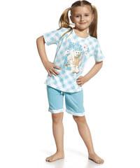 """Dívčí pyžamo Cornette """"Rabbit"""" YOUNG, KIDS, bílá - tyrkysová"""
