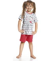 """Dívčí pyžamo Cornette """"Happy mouse"""" YOUNG, KIDS, šedá - červená"""