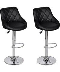 Černé nastavitelné barové židle BOSTON (2ks)