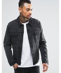 ASOS - Veste cintrée en jean - Noir délavé - Noir