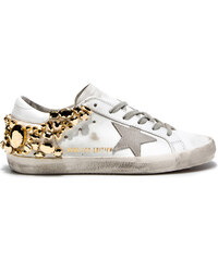 GOLDEN GOOSE superstar gold diamond sneakers - limited edition