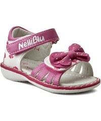 Sandály NELLI BLU - C1912009L07-4 Różowy Ciemny