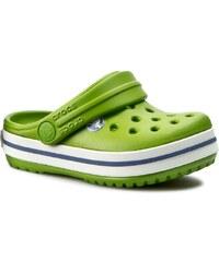Pantoletten CROCS - Crocband Kids 10998 Parrot Green/White