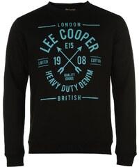 mikina Lee Cooper Heavy Duty Crew Sweater pánská Black