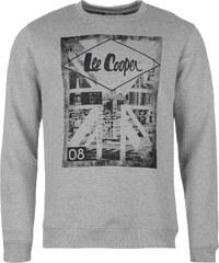 mikina Lee Cooper Cooper Stratford Crew Sweater pánská Grey Marl