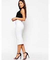 ASOS - Jupe fourreau mi-longue en jersey - Blanc