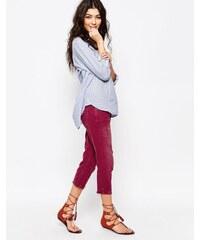 Free People - Kurze Jeans in Vintage-Optik - Blau